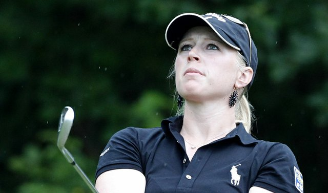 Morgan Pressel during the first round of the Evian Masters.