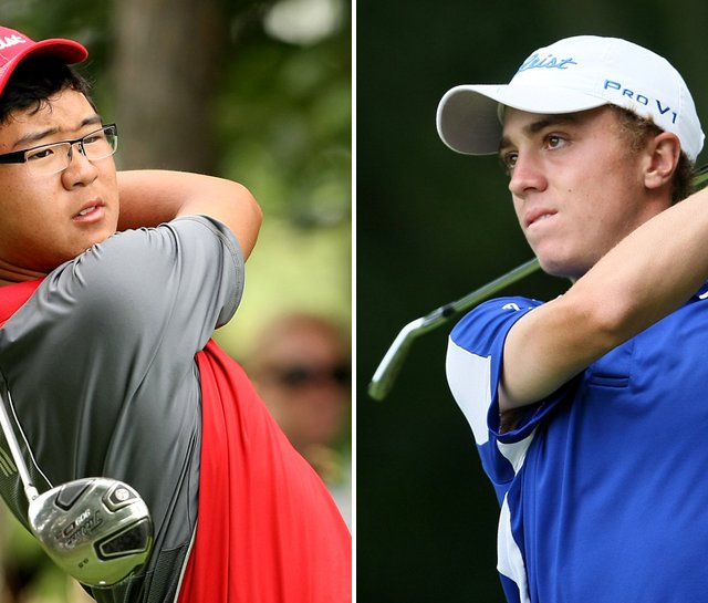 Jim Liu (left) will play Justin Thomas on July 24 in the championship match of the U.S. Junior Amateur.