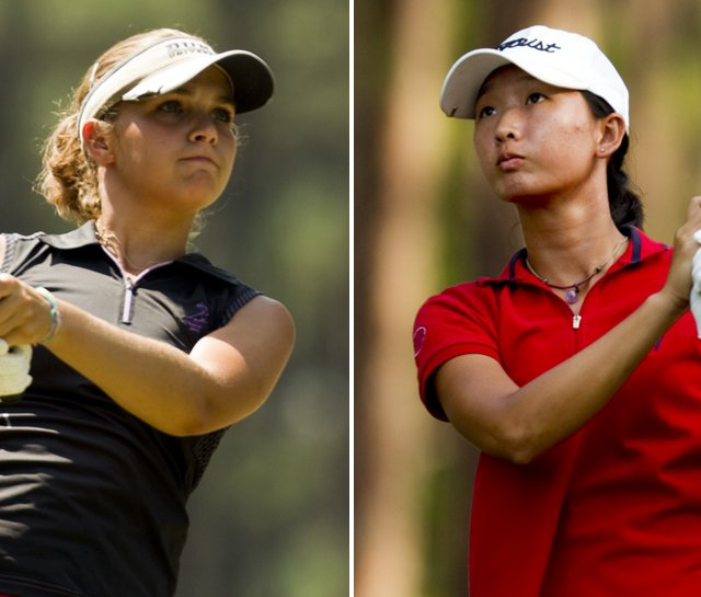 Katelyn Dambaugh (left) and Doris Chen will play in the championship match July 24 of the U.S. Girls' Junior.
