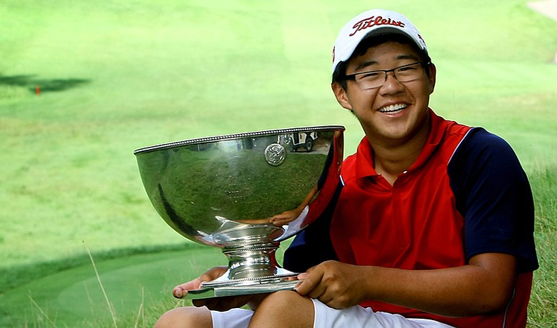 After defeating Justin Thomas, 4 and 2, at Egypt Valley in Ada, Mich., Jim Liu, 14, surpassed Tiger Woods as the youngest winner of the U.S. Junior Amateur.