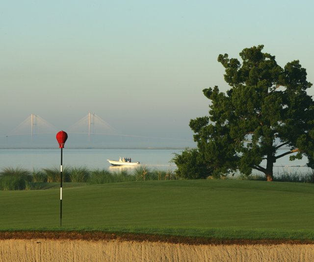 The 13th hole at Sea Island Golf Club's Seaside Course.