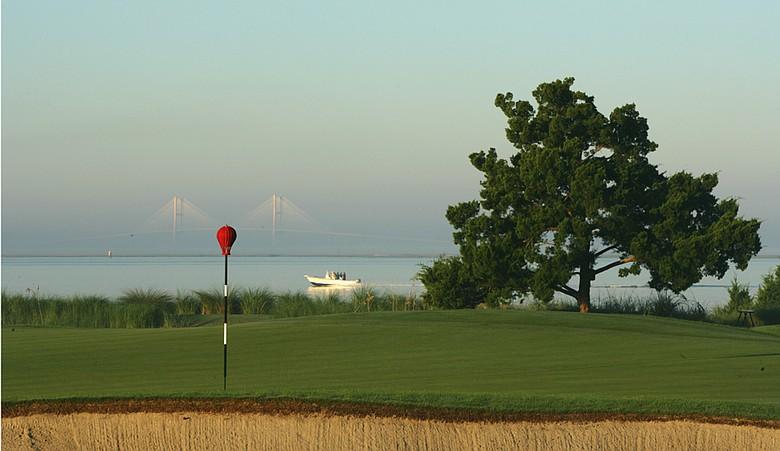 The 13th hole at Sea Island Golf Club's Seaside Course.