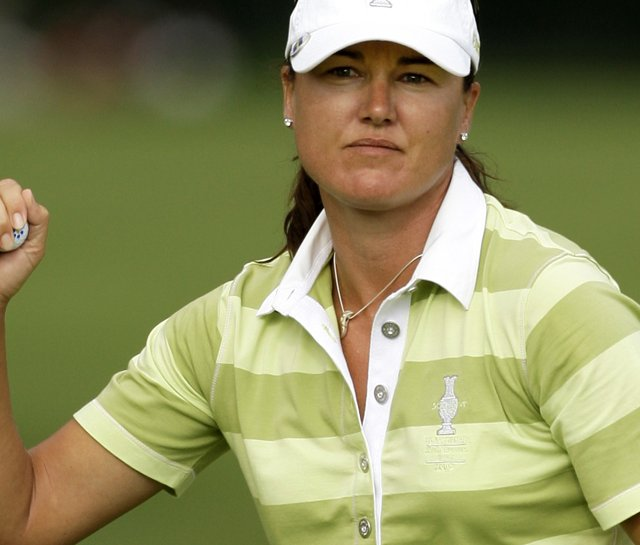 Sophie Gustafson during the 2009 Solheim Cup.