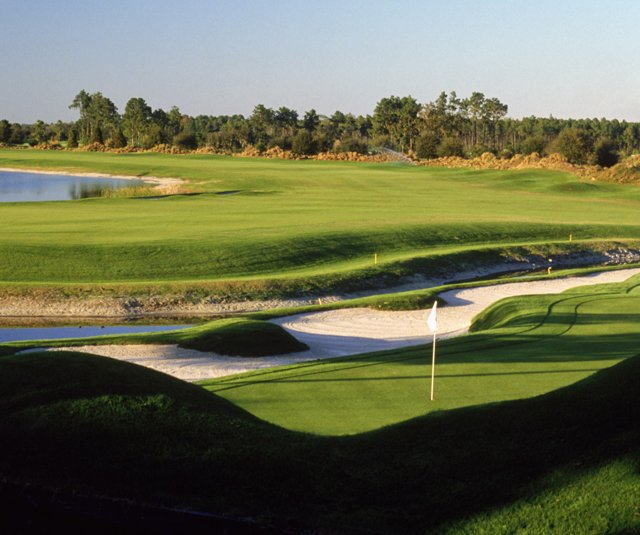 The second hole on the Jack Nicklaus-designed South Course at Grand Cypress Resort in Orlando, Fla.