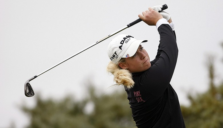Brittany Lincicome during the second round of the Women's British Open at Royal Birkdale.
