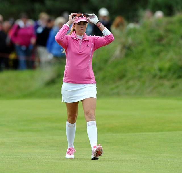 Paula Creamer during the final round of the Women&#39;s British Open.
