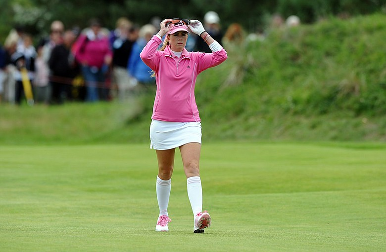 Paula Creamer during the final round of the Women's British Open.