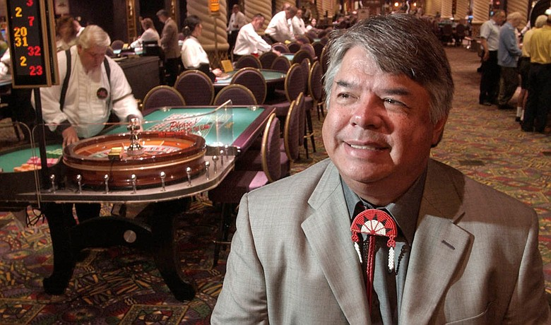 Nation Enterprises CEO Ray Halbritter poses in the Turning Stone Casino on July 3, 2003.