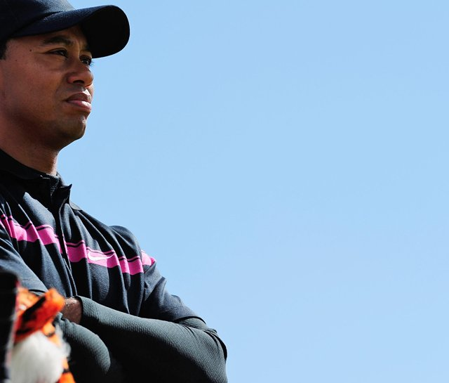 Tiger Woods during the 2010 British Open.
