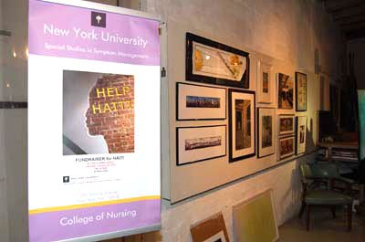 New York's Tabla Rasa Gallery, in conjunction with NYU's Division of Special Studies in Symptom Management/ College of Nursing, raised more than $11,000 at its January 23rd Haitian Relief Charity Event.