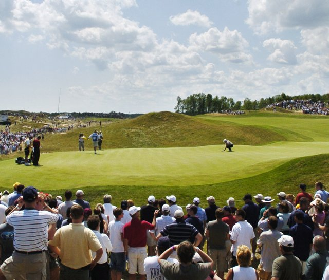 Hole No. 6 at Whistling Straits during the 2004 PGA Championship.