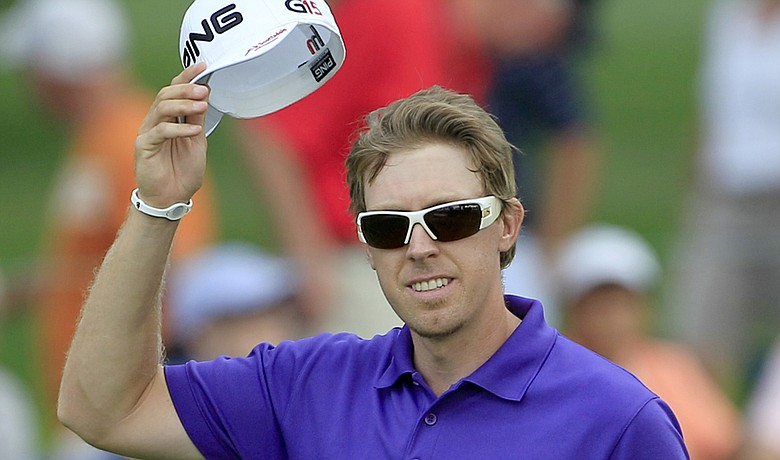 Hunter Mahan during the final round of the WGC-Bridgestone Invitational.