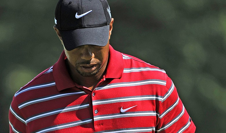 Tiger Woods during the final round of the WGC-Bridgestone Invitational.