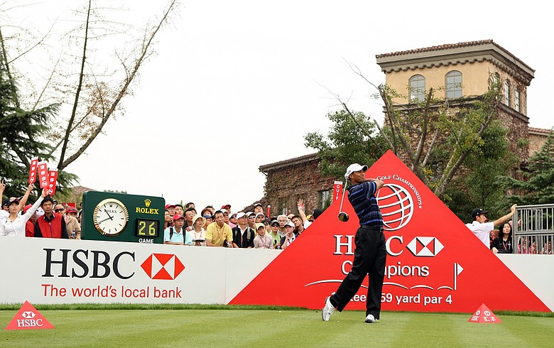 Tiger Woods during the 2009 WGC-HSBC Champions.