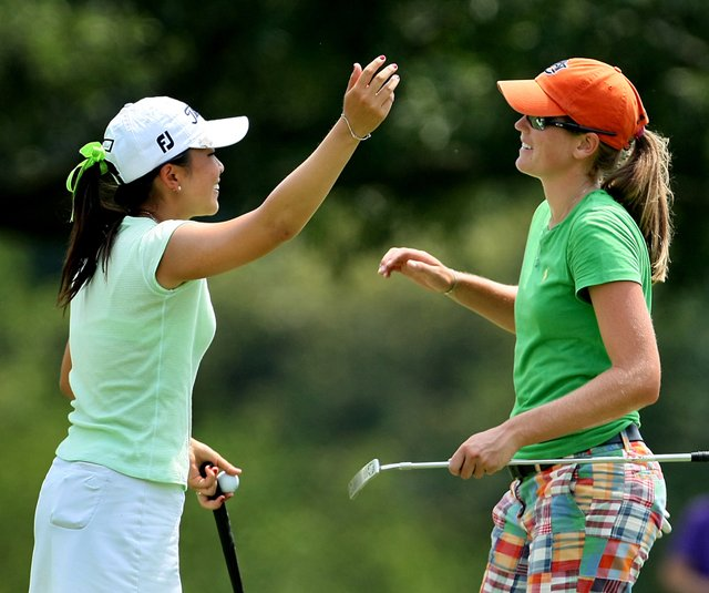 Cydney Clanton, right, defeated Tiffany Lua in the Round of 64 at the U.S. Women&#39;s Amateur. 