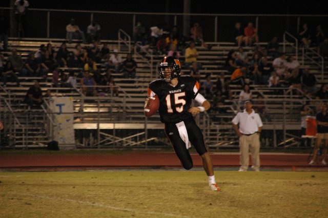 Winter Park quarterback Sam Richardson, above, has proven himself a capable passer at skill exhibitions during the summer months. Winter Park is looking for receivers to up their offense.