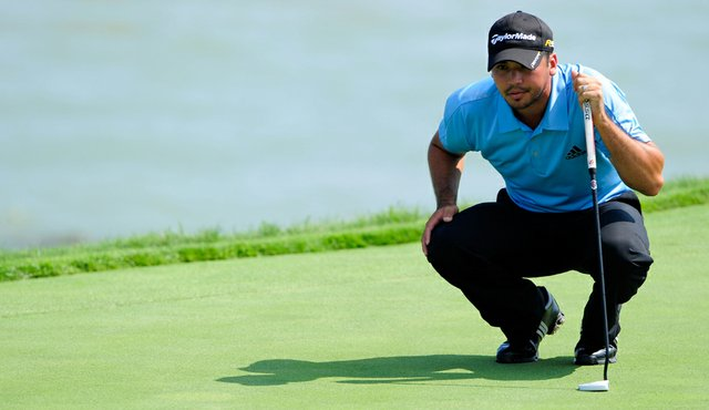 Jason Day during the first round of the PGA Championship at Whistling Straits.