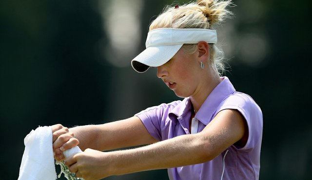 Jessica Korda during her Round of 16 match at the U.S. Women's Amateur in Charlotte, N.C.