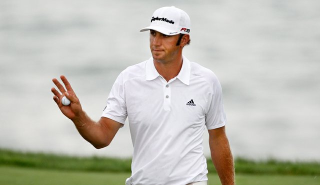 Dustin Johnson during the second round of the PGA Championship.