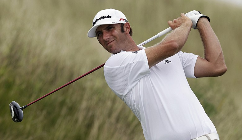 Dustin Johnson during Round 2 of the PGA Championship.