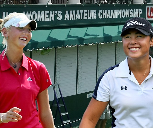 Jessica Korda, left, and Danielle Kang are set to meet in the final match of the U.S. Women's Amateur Championship.