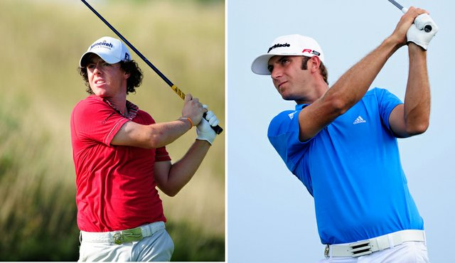 Rory McIlroy and Dustin Johnson