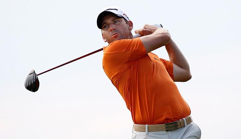 Sergio Garcia during Round 2 of the PGA Championship.