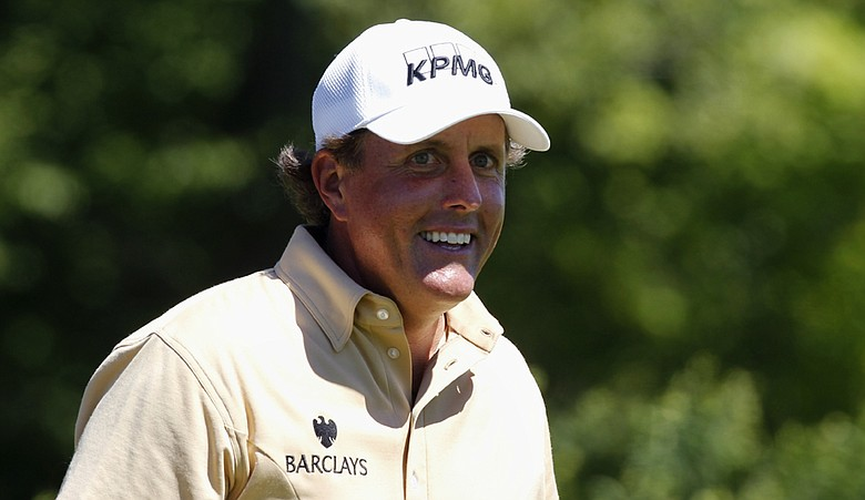 Phil Mickelson during the final round of the PGA Championship.