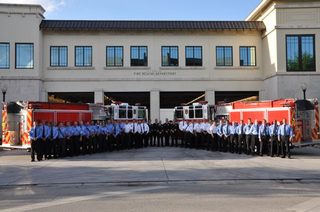 The Winter Park Fire Rescue Department celebrated its 110th birthday on Friday, April 16 with a small gathering of officials.