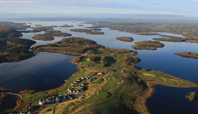 An aerial view of Lough Erne Resort.