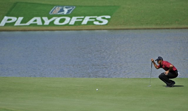 Tiger Woods during the final round of the 2009 Tour Championship.