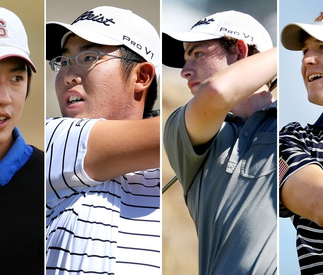(left to right) David Chung, Byeong-Hun An, Patrick Cantlay and Peter Uihlein advanced to the semifinals of the U.S. Amateur.