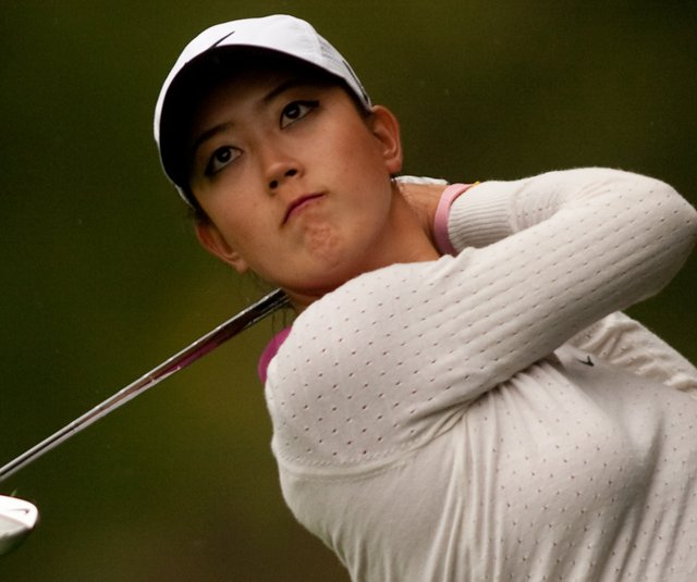 Michelle Wie follows through on an approach shot during the third round of the CN Canadian Women's Open.