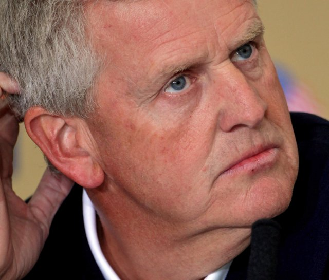 European Ryder Cup captain Colin Montgomerie at a Aug. 29 press conference to announce his wild card picks.