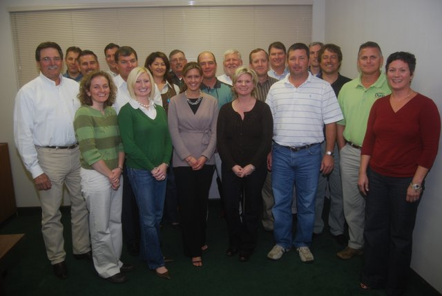 The Duda family pose at a 2008 gathering. Joseph Duda, 68, far left, handed the reins of the company over to David Duda on Aug. 30. The Oviedo-based company has grown from one, its founder Andrew Duda, to nearly 1,000 employees.