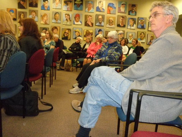 More than 40 people packed the community room in the Winter Park library to watch Rollins students&#39; documentaries on homelessness on Jan. 27. More than 4,000 children were homeless in the Orlando area in 2009. 