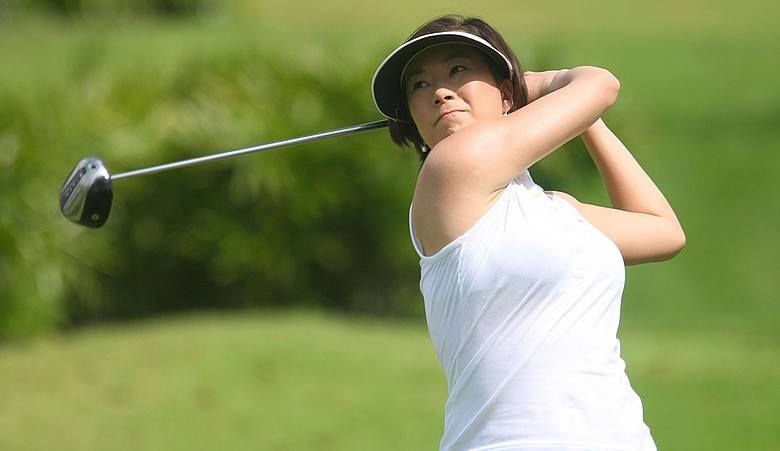 Shi Hyun Ahn during the 2008 HSBC Women's Champions.