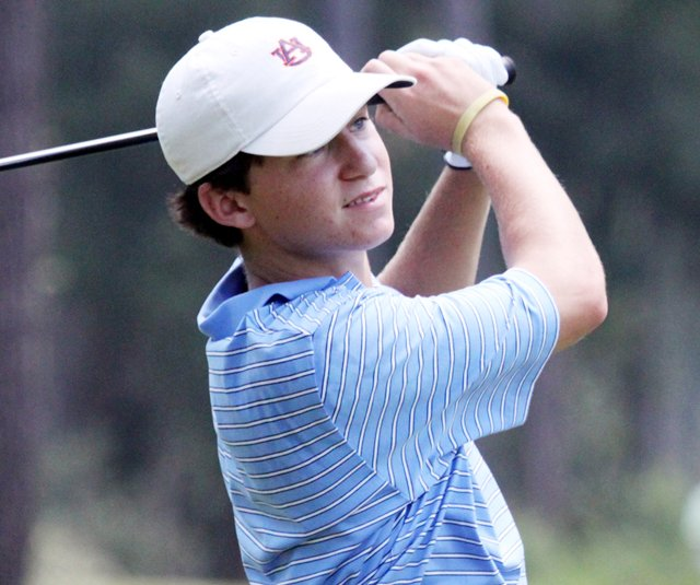 Michael Johnson took the first-round lead at the Junior Players Championship with a 4-under 68.