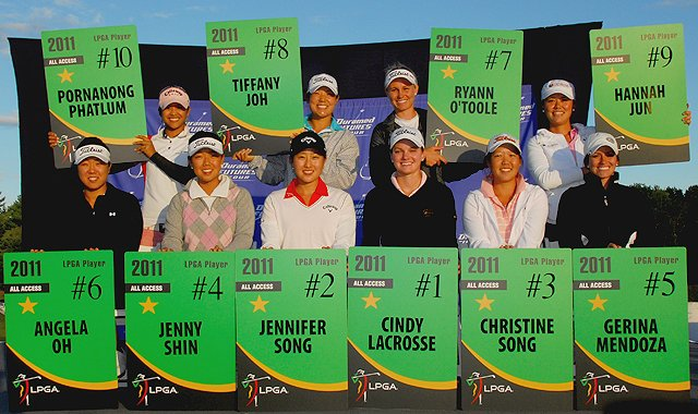 The top 10 Futures Tour players, based on the 2010 money list, earn LPGA membership for 2011.
