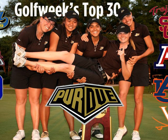 Defending champion Purdue tops Golfweek's preseason rankings.