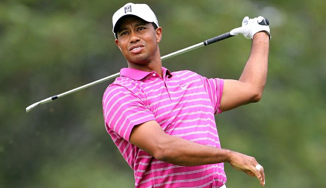 Tiger Woods during the first round of the BMW Championship at Cog Hill.