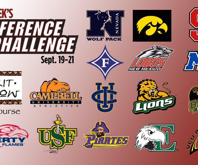 Fifteen Division I teams will tee it up at Spirit Hollow Golf Course in Burlington, Iowa, for the Golfweek Conference Challenge.