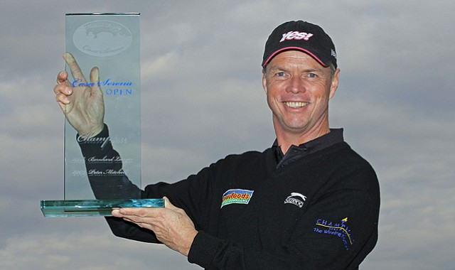 Gary Wolstenholme of England won his first pro event at the 2010 Casa Serena Open of the European Seniors Tour.