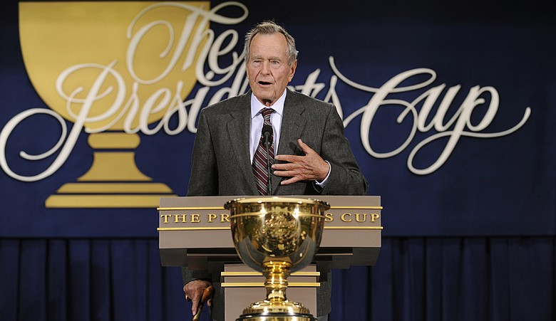 Former President George H.W. Bush during the 2009 Presidents Cup.