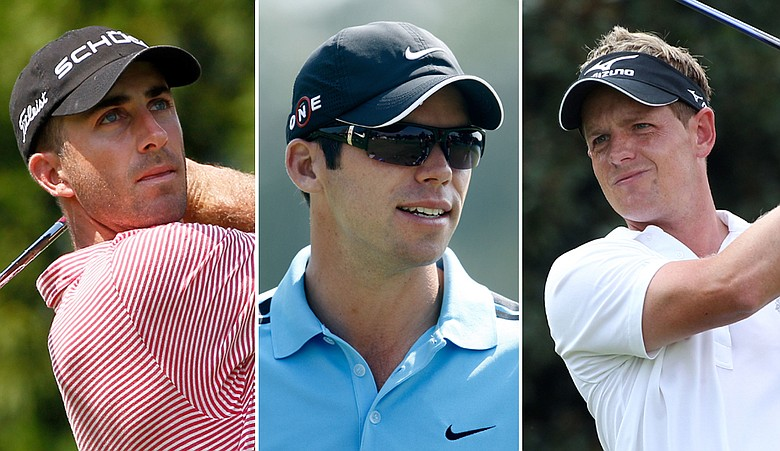Geoff Ogilvy, Paul Casey and Luke Donald share the lead after Round 1 of the Tour Championship.