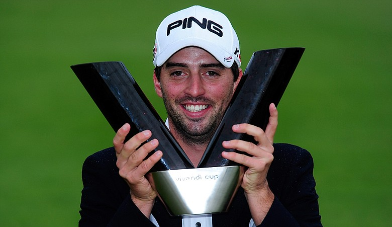John Parry after winning the European Tour's Vivendi Cup.