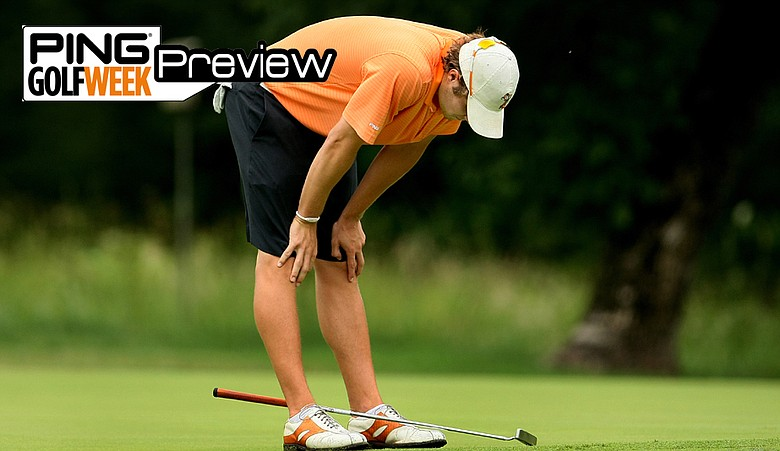 Peter Uihlein of Oklahoma State reacts to missing a putt during the 2009 NCAA Championship.