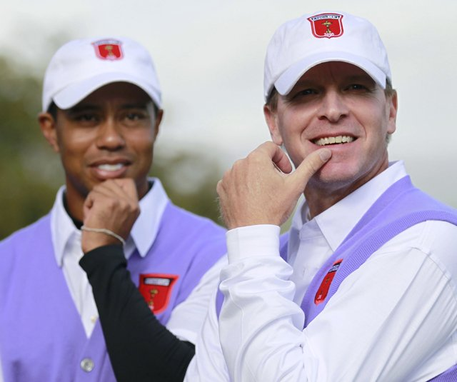 Tiger Woods and Steve Stricker won their first two matches at the Ryder Cup.