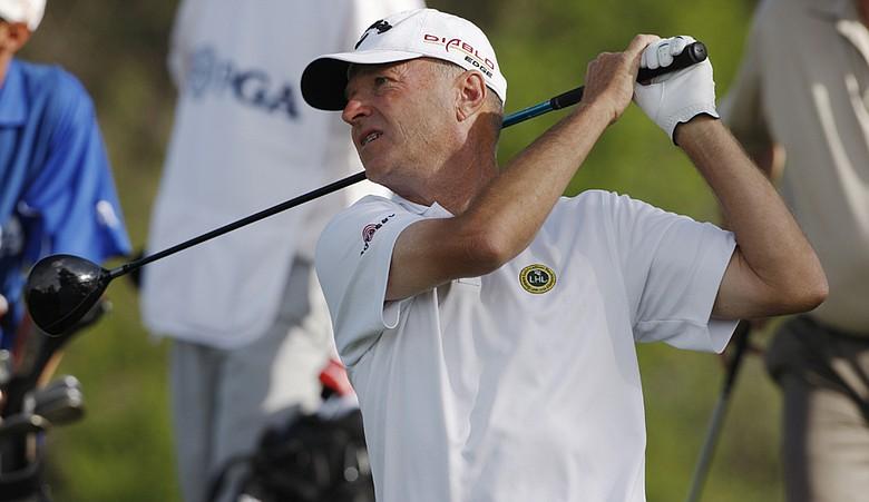 Gary Hallberg during the 2010 Senior PGA Championship.