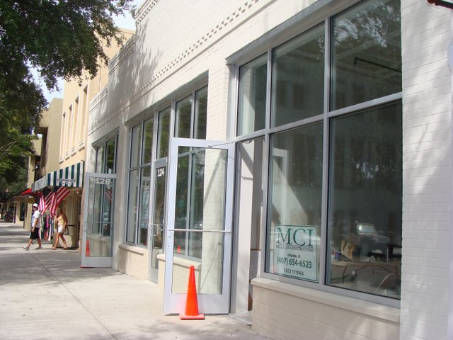The former Ann Taylor Loft space has been split into three storefronts.